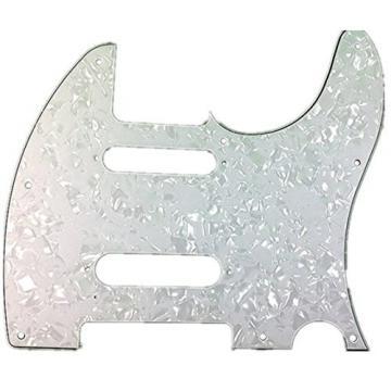 White Pearl Guitar Pickguard For Fender Nashville Telecaster Tele