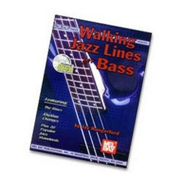 Walking Jazz Lines for Bass Book/CD Set- Electric Bass