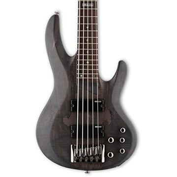 ESP LB205SMSTBLKS-KIT-1 B Series B-205SM 5-String Electric Bass Guitar, See Thru Black Satin