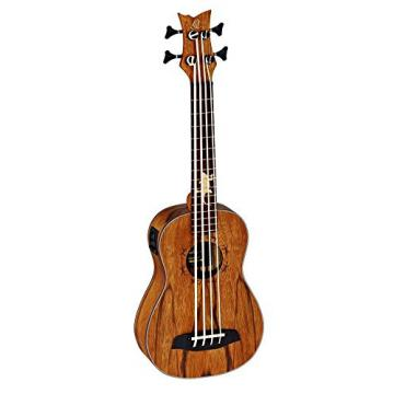 Ortega Guitars LIZARD-BS-GB Lizard Series Uke Bass with Dao Top and Body, Stain Finish