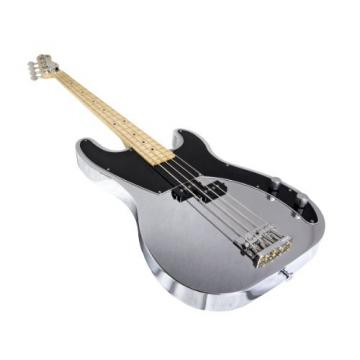 Normandy Guitars ALCB-CH-MPL 4-String Bass Guitar with Maple Fretboard, Triple Chrome Plated