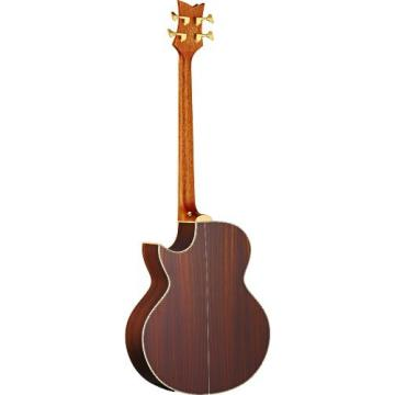 Ortega Guitars D2-4 Deep Series Two 4-String Acoustic Bass with Solid Cedar Top, Rosewood Body, Satin Finish