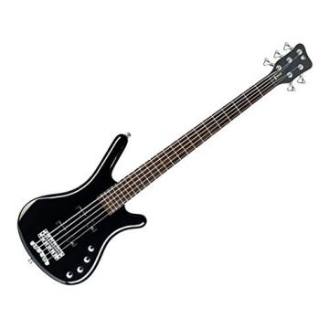 Warwick RockBass Corvette Basic 5-String Passive Bass - Black High Polish w/Case