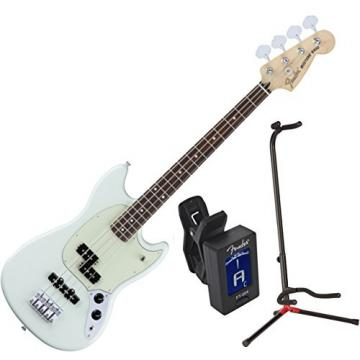 FENDER MUSTANG BASS PJ SBL w/ Stand and Tuner