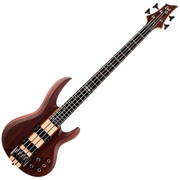 ESP LTD B-4 Ebony Natural Satin Electric Bass w/ Hardshell Case