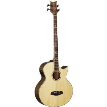 Ortega Guitars KTSM-4 Signature Series Ken Taylor 4-String Acoustic Bass with Solid Spruce Top, Mahogany Body