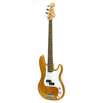 Crestwood Bass Guitar 4 String Natural P-Style