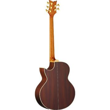 Ortega Guitars D2-5 Deep Series Two 5-String Acoustic Bass with Solid Cedar Top, Rosewood Body, Satin Finish