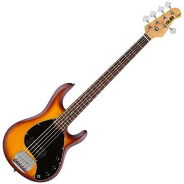 Sterling by Music Man RAY5-HBS/R 5 String Electric Bass Honeyburst Satin w/ Gig Bag and Stand