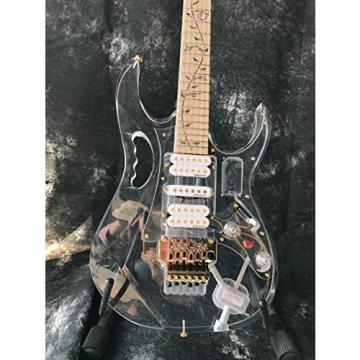 Starshine IB style populer crystal electric guitar multi color led light frets gold hardware