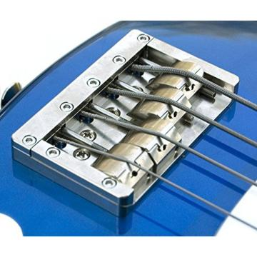 "KSM FOUNDATION Bass Bridge (4-string) ""Nickel Body with Nickel Bolts"""