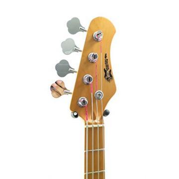 Effin Guitars model EJB/MRD Vintage Look Metallic Red Jazz Style Bass Guitar