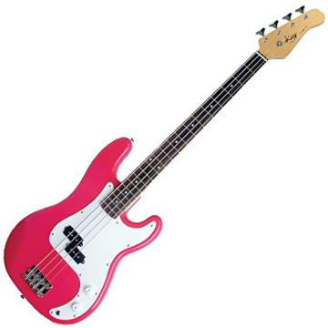 Kay KB24P Electric Bass Guitar-Long Scale - (Pink)
