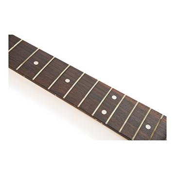 SODIAL(R) Maple/rosewood Guitar Neck 22 Frets on Rosewood Strat Shred Neck Guitar