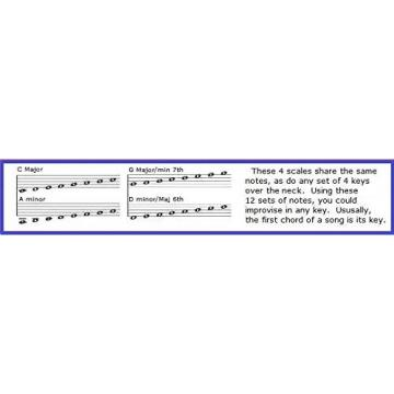BASS SLIDE RULE CHART - 5 POSITIONS