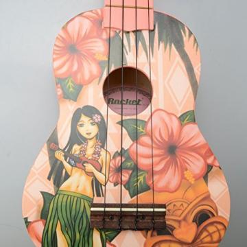 Rockets 21i Slap-up Hawaii Girl tone Basswood Soprano Ukulele