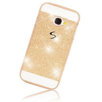 Galaxy A5 2016 Case,Sunroyal Hand Made AntidustLuxury Shiny Bling Lightweight PC Case with Crystal Sparkly Rhinestone Protective Cover for Samsung Galaxy A5 2016 SM-A510F,Gold