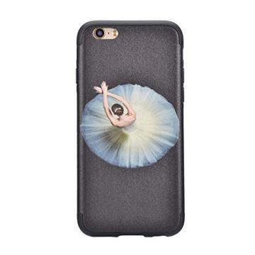 iPhone 7 Plus Case, Bonice Unique Elegant 3D Dancing Ballet Girl Ultra Thin Slim Exact Fit Rubber Art Creative Scratch-Resistant Non-slip Protective Skin - 01