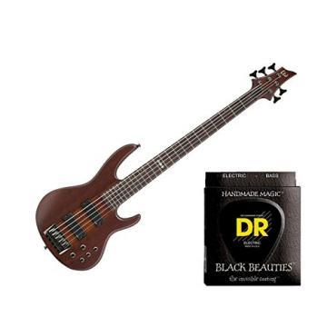 ESP LTD D-5 Natural Satin w/2 Sets DR Strings BKB5-45