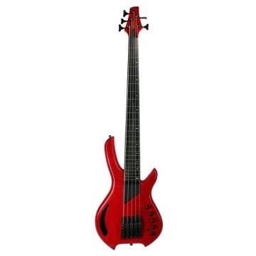 LightWave Saber Bass VL 5-String Fretted, Transparent Red