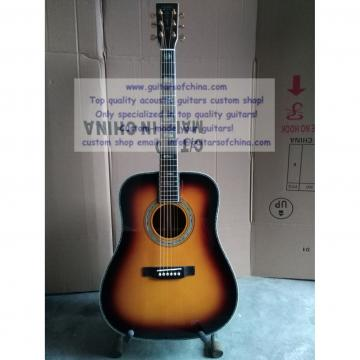 Custom Sunburst Martin D-45 ss Dreadnought Guitar All Solid Wood