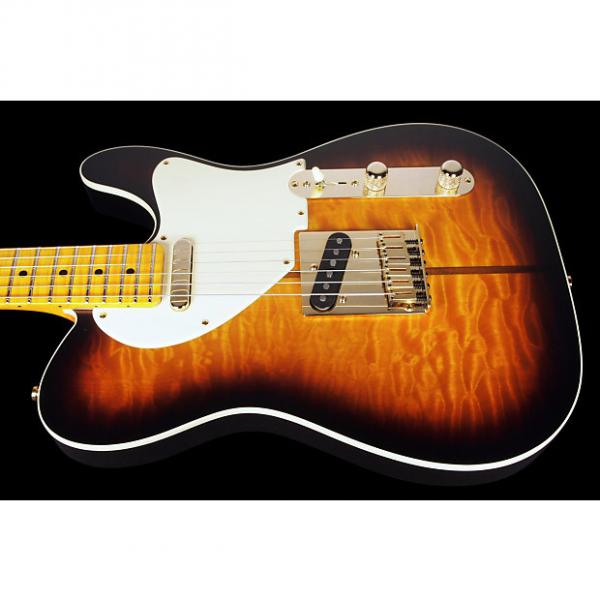 Custom 2017 Fender Telecaster Custom Shop Merle Haggard Tuff Dog Quilt Top with Neck-Thru ~ 2 Tone Sunburst