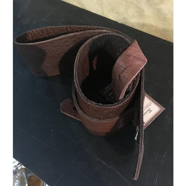 "Custom Lakota Leather 3"" Guitar Strap | Chocolate"