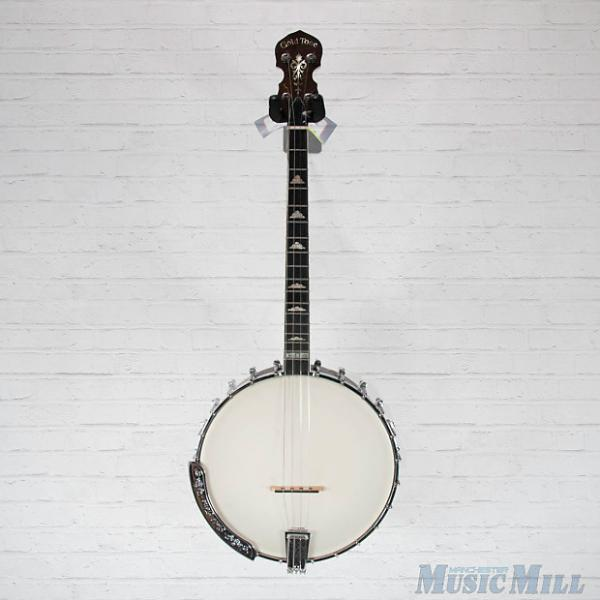 Custom Gold Tone IT-250 Irish Tenor Banjo Vintage Brown w/Bag