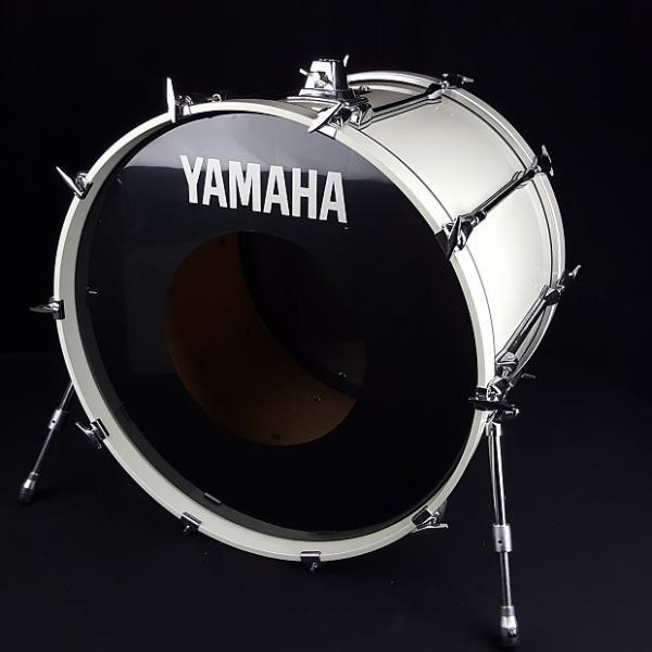 Custom Yamaha 1990's Rock Tour Custom White 24 x 18 Kick Bass Drum