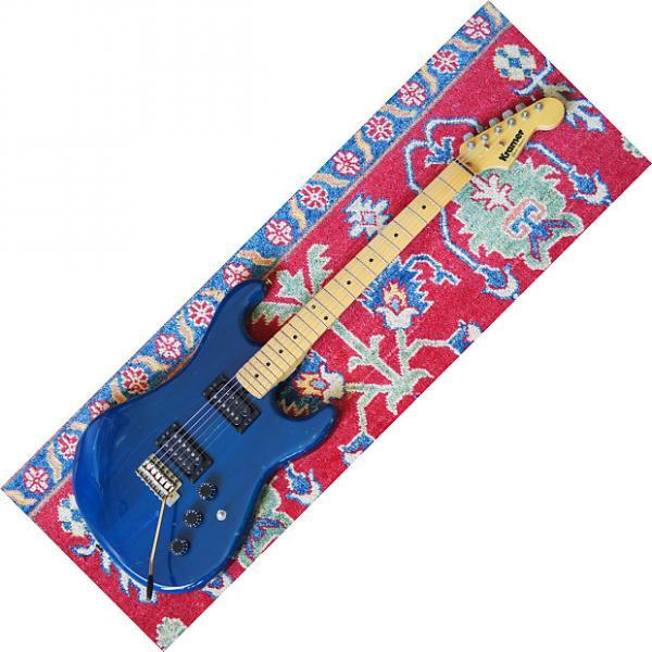 Custom Kramer Pacer Strathead 1981 Trans Blue