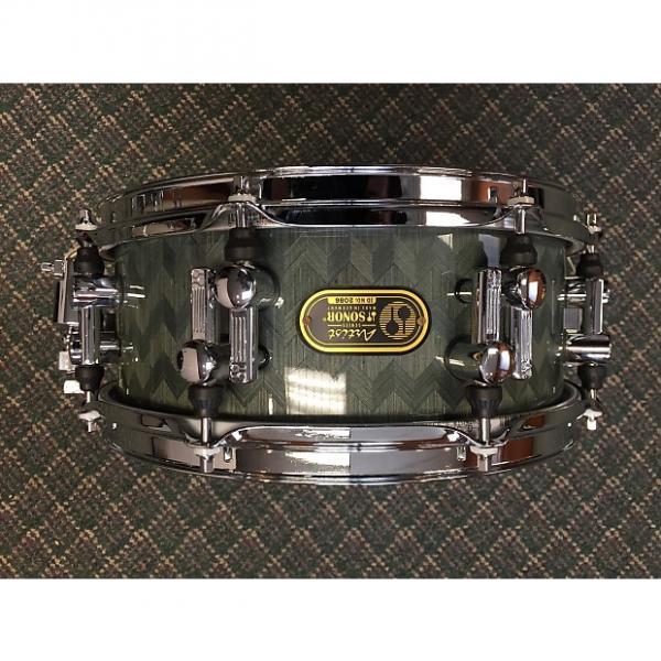 Custom Sonor Artist snare drum, birch 12 x 5 Greyish, subtle herringbone