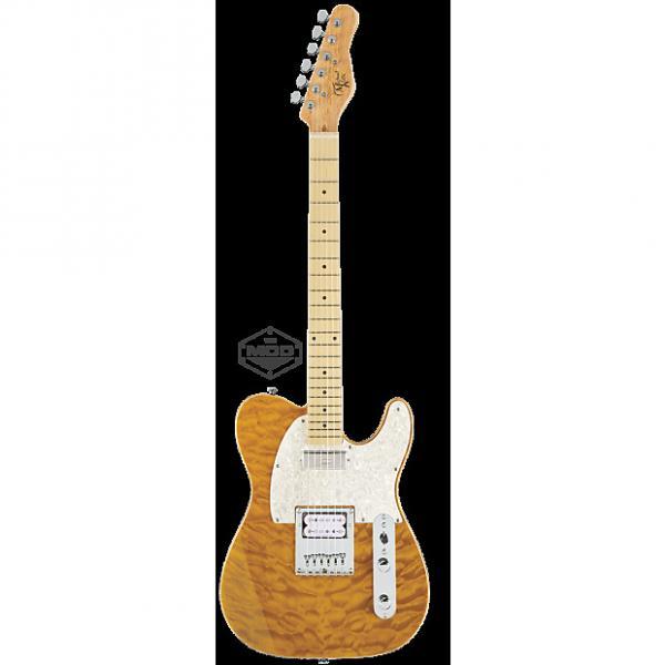 Custom Michael Kelly Mod Shop 1955 Amber Trans electric guitar NEW - Seymour Duncan pickups