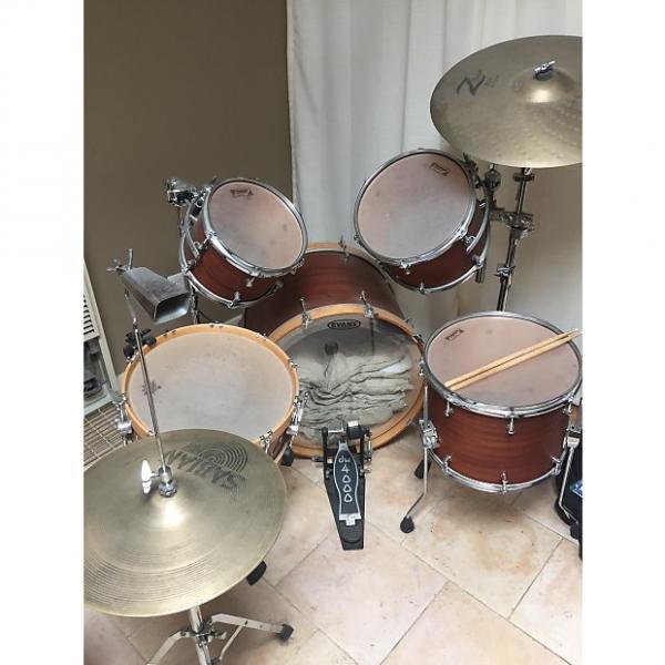 Custom Allegra drums, 5 piece full kit, natural Douglass Fir shells