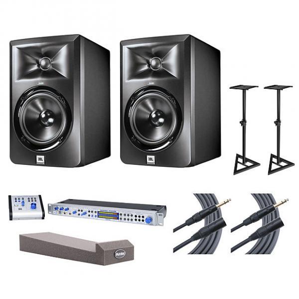 Custom 2x JBL LSR305 + Central Station PLUS + Stands + MoPADs + Cables