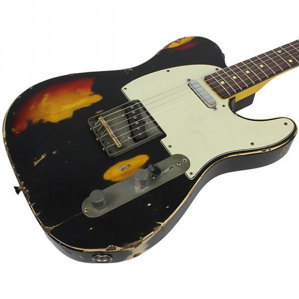 Custom Nash T-63 Guitar, Black over 3 Tone Sunburst