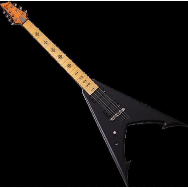 Custom Schecter Jeff Loomis JLV-7 NT Left-Handed Electric Guitar in Satin Black