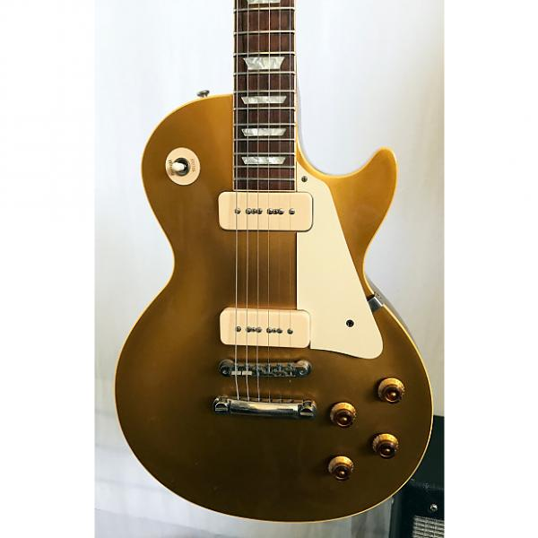 Custom Gibson 56 Reissue R6 Les Paul Gold Top All Gold Electric Guitar 2008 Gold Top