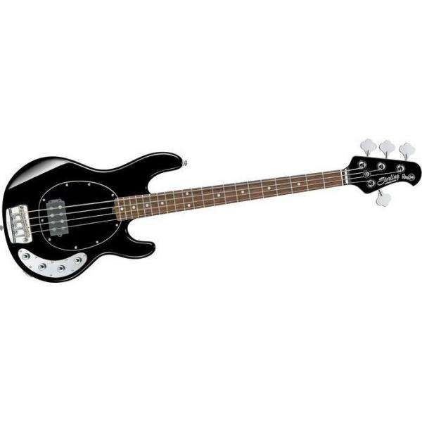 GREAT NEW STERLING MODEL RAY34-BK BLACK GLOSS 4 STRING ELECTRIC BASS GUITAR