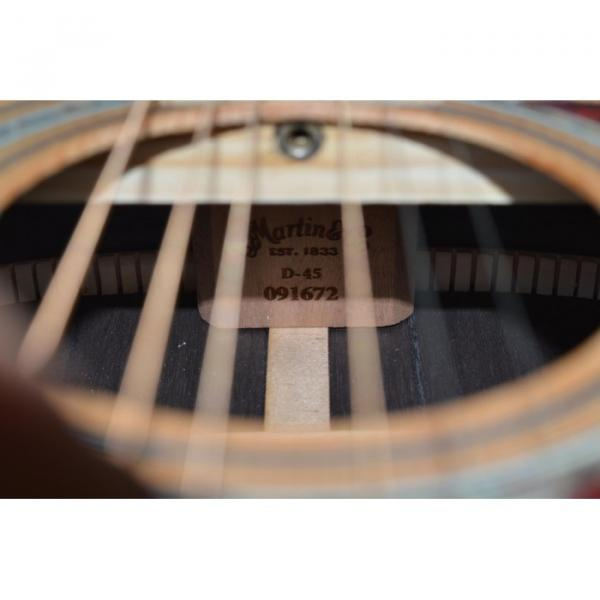 Custom Shop Martin D45 Real Abalone Natural Acoustic Guitar Sitka Solid Spruce Top With Ox Bone Nut & Saddler