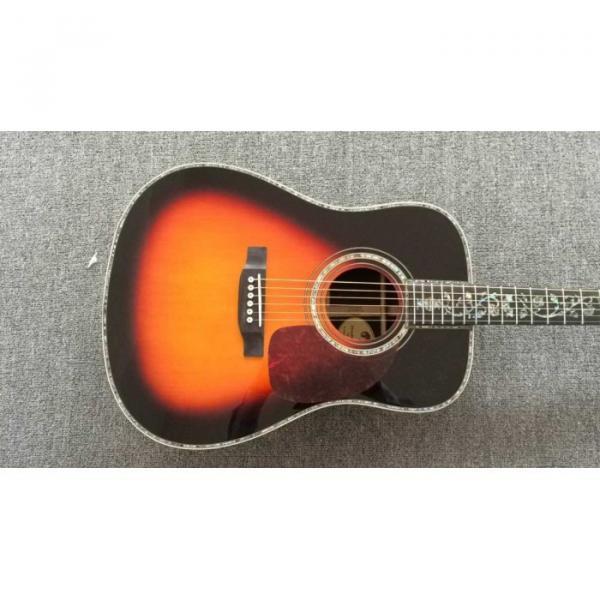 Custom Shop Martin D28 Chrome Hardware Tobacco Burst Acoustic Guitar Sitka Solid Spruce Top