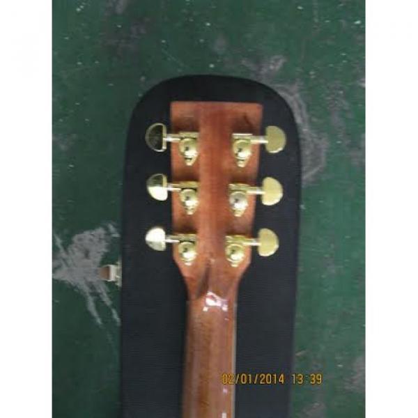 Custom Shop CMF Martin Natural Varnish Acoustic Guitar Sitka Solid Spruce Top With Ox Bone Nut & Saddler