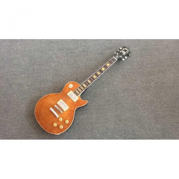 Custom Joe Perry Boneyard Pat Martino Caramel Brown Solid Veneer Top Electric Guitar