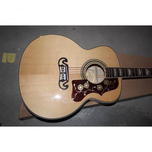 Custom Shop SJ200 Elvis Presley Flame Maple Back Acoustic Electric Guitar Fishman EQ