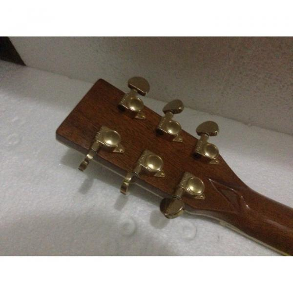 Cream D45 Acoustic Electric Guitar With Fishman Pickup Sitka Solid Spruce Top With Ox Bone Nut & Saddler