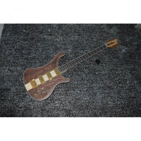 Walnut Body Lemmy Kilmister  Rickenbacker 4003 Matte Carved Natural Bass Back Strap