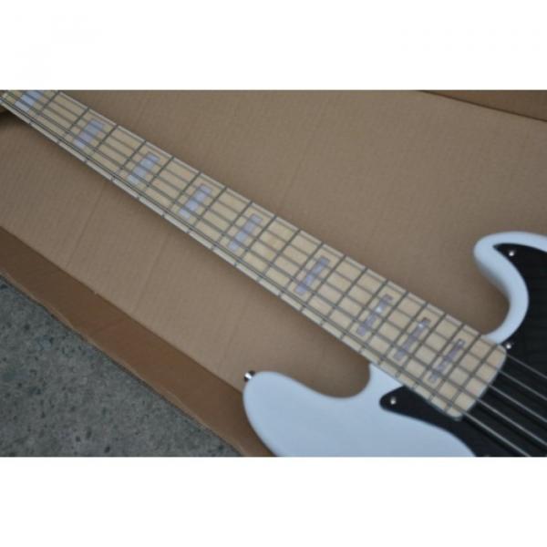 Custom Shop White Marcus Miller Signature 5 String Jazz Bass