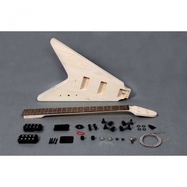 Custom Shop Unfinished flying V guitarra Electric Bass Kit