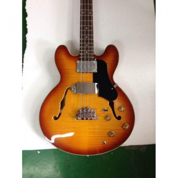 Custom Shop Tiger Maple Top Midtown Standard 4 String Semi Hollow Bass