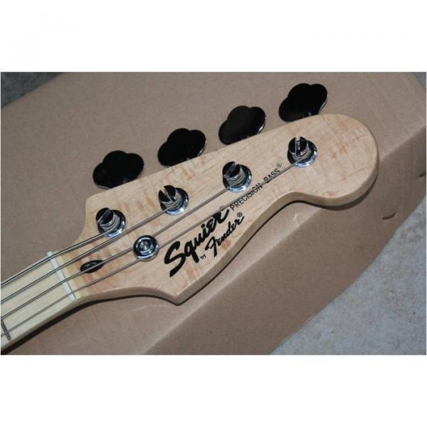 Custom Shop Squire Black Wilkinson Parts 4 String Bass