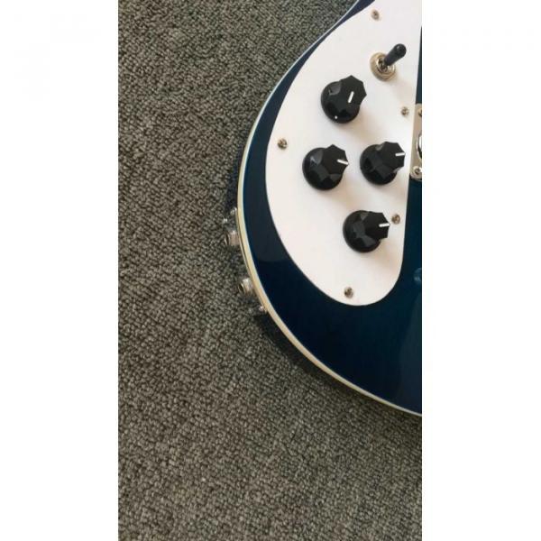Custom Rickenbacker Left Hand Bass 4003 Blue Electric Guitar Neck Through Body